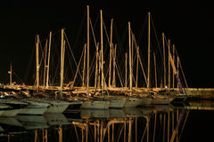 Boats in a dock. A lot of boats in a dock Royalty Free Stock Photography