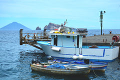 Boats at a dock. Fishing boats at a dock Royalty Free Stock Images