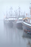 Boats at Dock, Fog, Steveston Royalty Free Stock Image