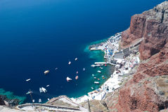 Boats at the dock on Santorini Royalty Free Stock Photography