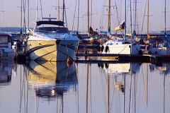 Boats on dock Royalty Free Stock Image