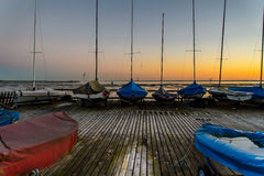 Boats on a dock Royalty Free Stock Photo
