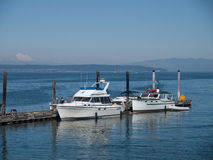 Boats at dock in Washington State Stock Photography