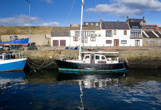 Boats docked in Burghead Harbour Stock Photos