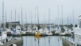 Boats Docked, Kenosha Harbor royalty free stock image