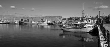 Kirkwall Harbour. Boats docked in Kirkwall Harbour, Orkney, Scotland Stock Photo