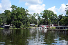 Boats docked at a lake in florida Stock Photography