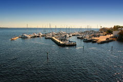 Boats Docked in Marina Royalty Free Stock Photography