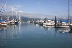 Boats docked at Seward Harbor in Alaska Stock Photos