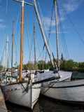 Boats docked in Stockholm Stock Photo