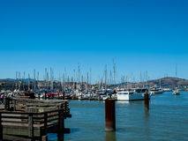 Boats Docked to a Marina Stock Images