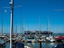 Boats Docked to a Marina Royalty Free Stock Photography