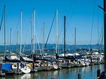 Boats Docked to a Marina Royalty Free Stock Images