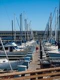 Boats Docked to a Marina Royalty Free Stock Photo