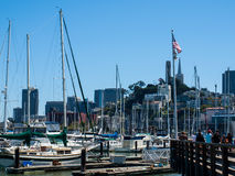 Boats Docked to a Marina Royalty Free Stock Image