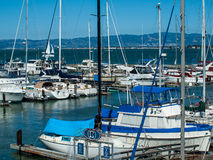 Boats Docked to a Marina Royalty Free Stock Photos