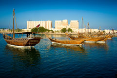 BOATS IN Doha Royalty Free Stock Images