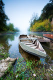 Boats on the Dordogne. Stock Image