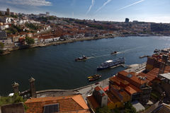 Boats on Douro river in Porto, Portugal Stock Photography