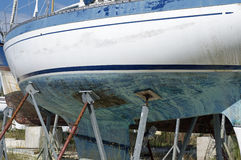 Boats in dry dock Stock Photos