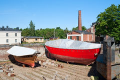 Boats in the drydock Royalty Free Stock Photography