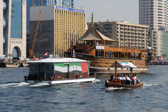 Boats at Dubai Creek Royalty Free Stock Photo