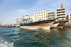 Boats on Dubai creek Royalty Free Stock Photography