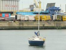 Boats in Dublin port Royalty Free Stock Photos