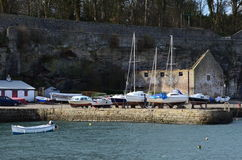 Boats in Dysart Harbour Stock Photo