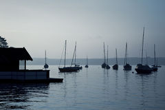 Boats early morning mood Stock Photography