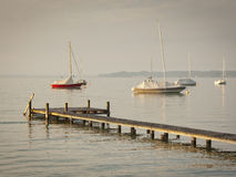 Boats early morning mood. An image of some boats in the early morning mood Stock Images