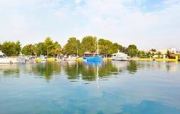Boats at Eleusis - Elefsina Greece stock images