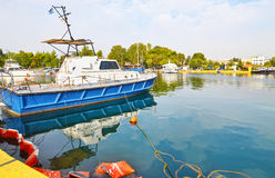 Boats at Eleusis port Greece Stock Images
