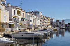 Boats at Empuriabravia in Spain Royalty Free Stock Photos
