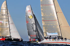 Boats engaged in the race Stock Images