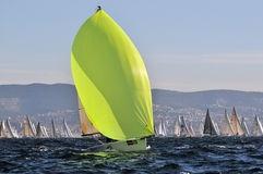 Boats engaged in the race Royalty Free Stock Images