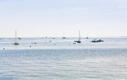 Boats in English Channel Stock Photos