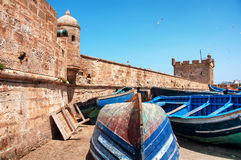 Boats in Essaouira, Morocco Royalty Free Stock Photo