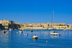 Boats facing Valletta, Malta Stock Images
