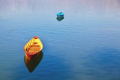 Boats of Fewa lake Royalty Free Stock Photography