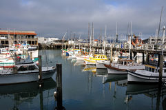 Boats at Fisherman's Wharf Royalty Free Stock Photography