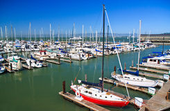 Boats at Fisherman's Wharf, San Francisco Stock Photos