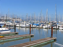 Boats at Fisherman's Wharf, San Francisco Royalty Free Stock Photo