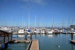 Boats at fisherman's wharf san francisco Stock Photo