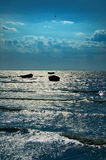 Boats of fishermen Royalty Free Stock Images