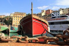 The boats of the fishermen of Camogli Stock Image