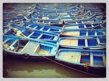 Boats. Fishermen`s boats, Essaouira, Morocco Stock Images