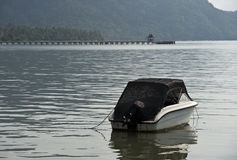 Boats for fishing. Fishing boat in the middle of the sea, Thailand Stock Photos
