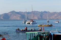 Boats and Fishing Boats. At sea side of Gili Air beach, Lombok, Indonesia Royalty Free Stock Photos