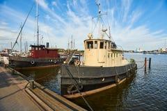 boats fishing harbour old Στοκ εικόνες με δικαίωμα ελεύθερης χρήσης